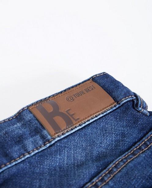 Jeans - Donkerblauwe slim jeans