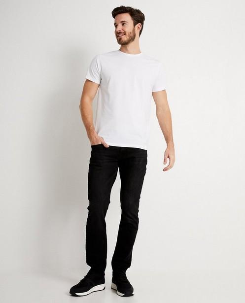 T-shirt blanc en coton bio - col rond - JBC