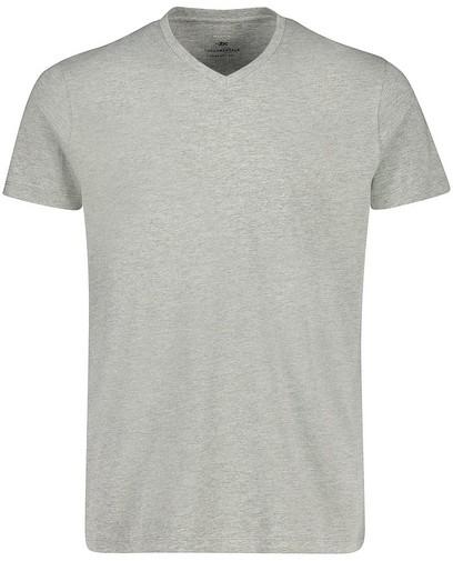 Grijs T-shirt van biokatoen V-hals