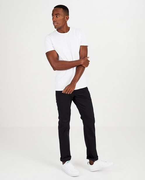 T-shirt blanc en coton bio - encolure ronde - JBC