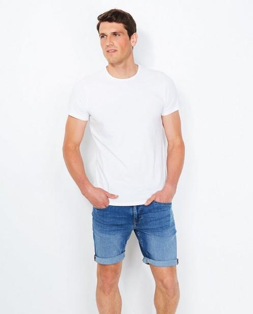 Wit T-shirt van biokatoen - ronde hals - JBC