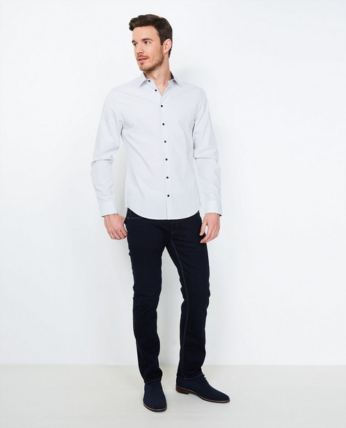 Fitted straight jeans BRANDON - in nachtblauw - JBC