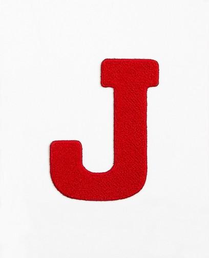 Rode letter J - groot