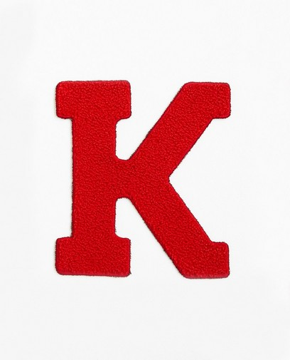 Lettre K rouge - grande