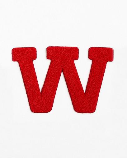 Lettre W rouge - grande