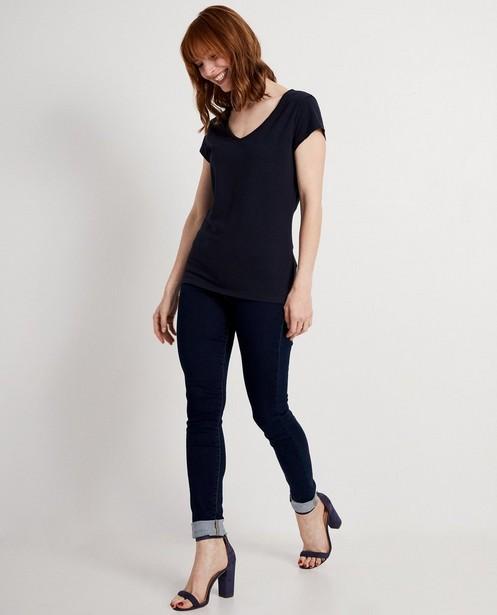 T-shirt en coton bio - bleu nuit - JBC