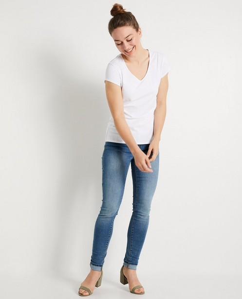 T-shirt en coton bio - crème - JBC