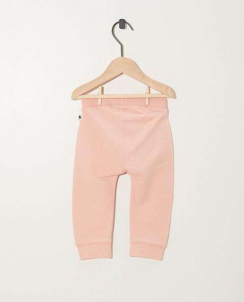 Broeken - Roze joggingsbroek van biokatoen