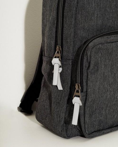 Handtassen - Donkergrijze rugzak met lamaprint