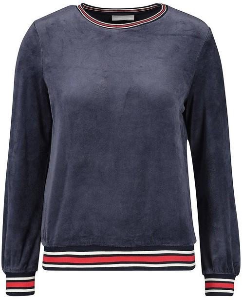 Sweats - Sweat bleu en velours
