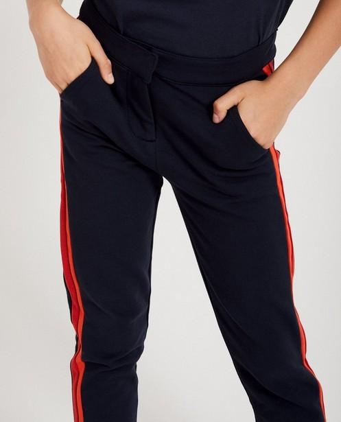 Broeken - Donkerblauwe broek met strepen