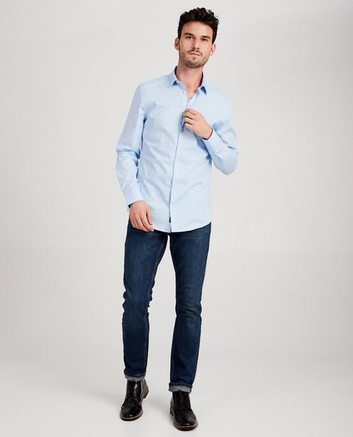 Lichtblauw hemd - slim fit - JBC
