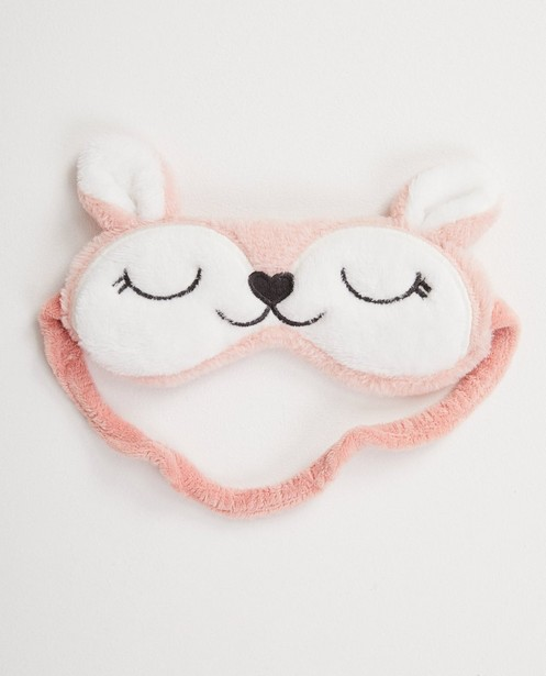 Masque de sommeil rose - fleece - JBC