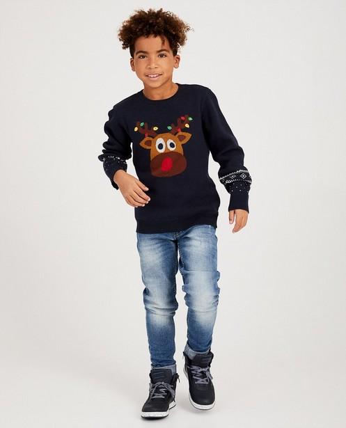 Pull renne bleu fin tricot 7-14 ans - #familystoriesJBC - JBC
