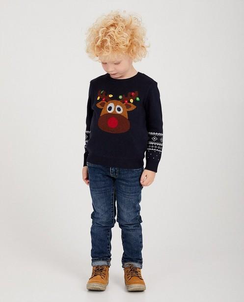 Pull renne bleu fin tricot, 2-7 ans - #familystoriesJBC - JBC