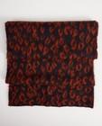 Donkerblauwe sjaal met print - luipaardprint - JBC