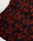 Breigoed - Donkerblauwe sjaal met print