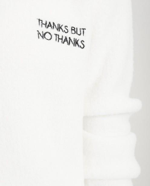 Pulls - Zwarte trui met opschrift