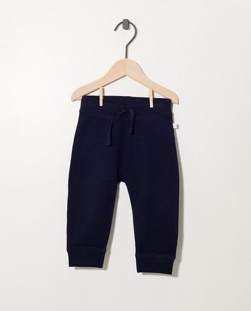 Pantalon bleu en coton bio - molletonné, 2 pour 14,95€ - Cuddles and Smiles