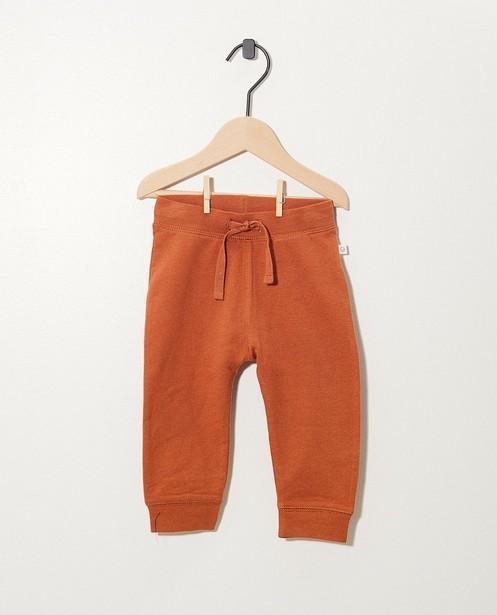 Pantalon rouille en coton bio - molletonné, 2 pour 14,95€ - Cuddles and Smiles