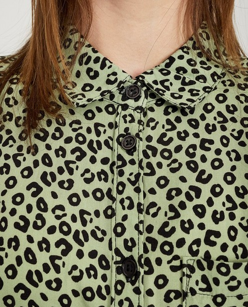 Robes - Robe verte, imprimé léopard