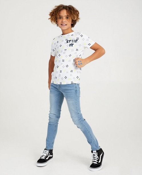 T-shirt blanc Stip It Ketnet - imprimé intégral - Ketnet