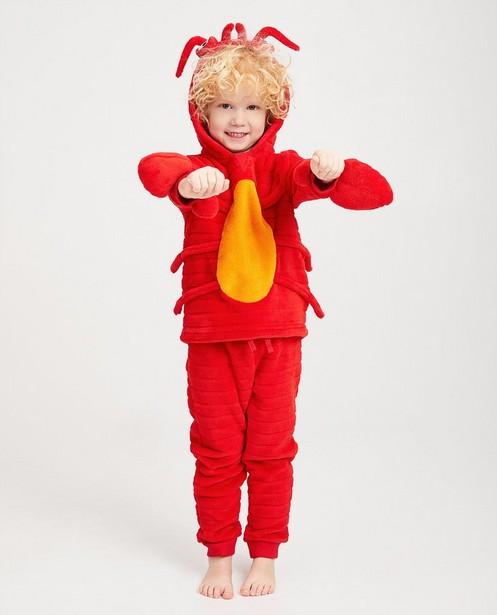 Rode pyjama van fleece - met oranje - Kidz Nation