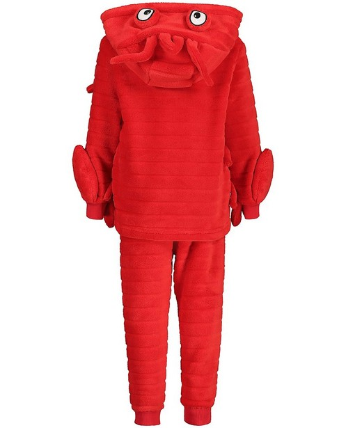 Nachtkleding - Rode pyjama van fleece