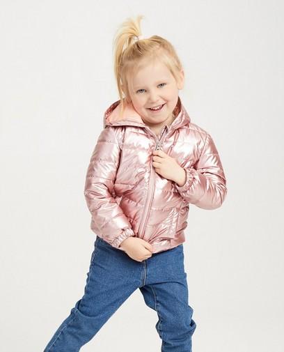 Waterafstotende roze jas