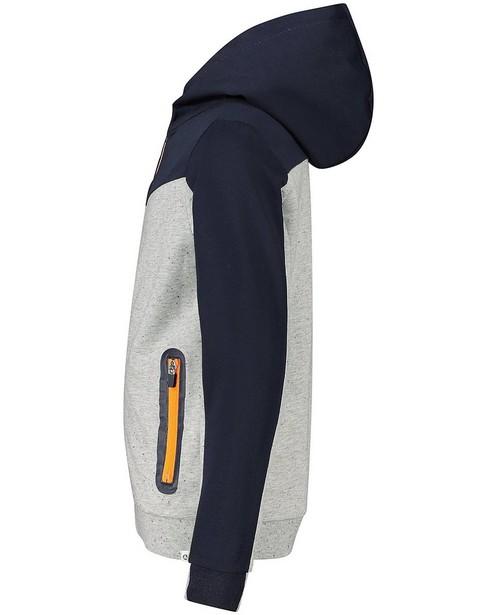 Cardigans - Gilet gris-bleu à capuchon