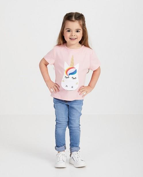 T-shirt rose d'anniversaire - imprimé de licorne - Milla Star
