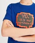 T-shirts - Blauw verjaardagsshirt met print