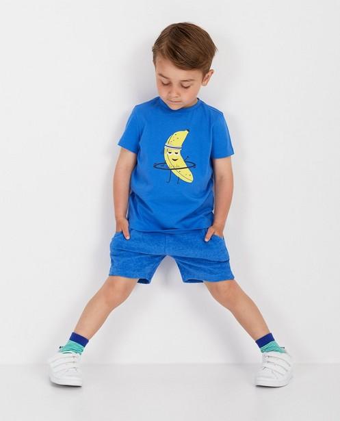 Sponzen short in blauw BESTies - stretch - Besties