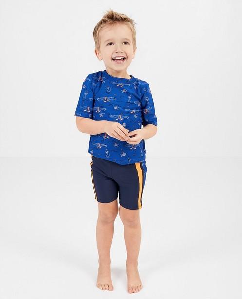 Blauw zwempak met uv-bescherming - met print - Kidz Nation
