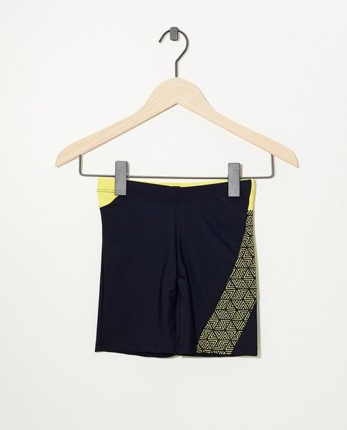 Short de natation noir - imprimé tribal jaune - Fish & Chips