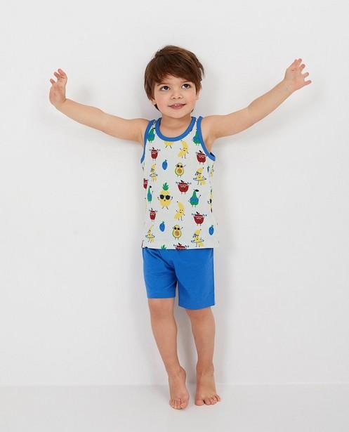 Pyjama bleu à imprimé - sur le débardeur - Kidz Nation
