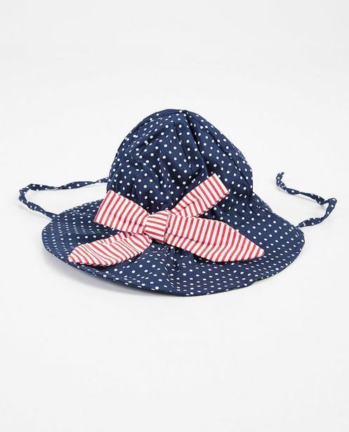 Chapeau bleu, nœud papillon - imprimé intégral de pois - Cuddles and Smiles
