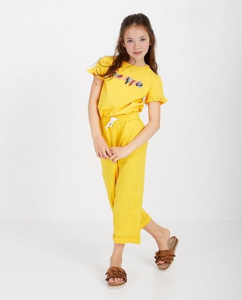 T-shirt jaune avec une inscription - ruches - Fish & Chips