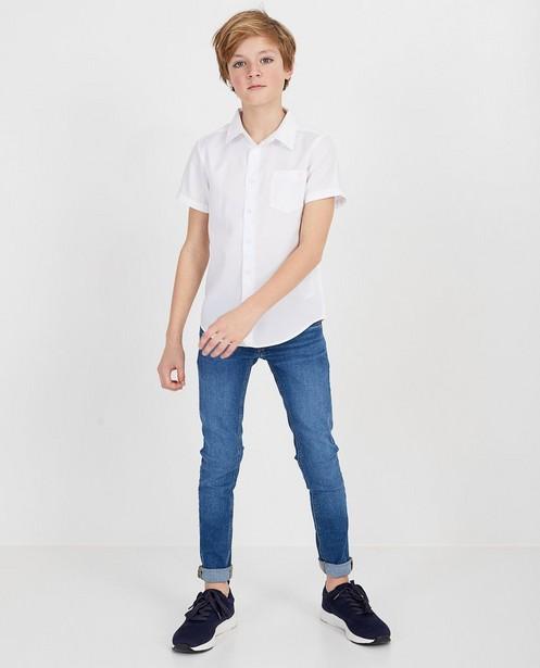 Wit hemd met korte mouwen - met borstzak - Fish & Chips