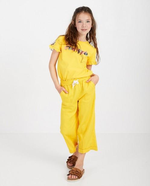 Pantalon jaune - jambes larges - Fish & Chips