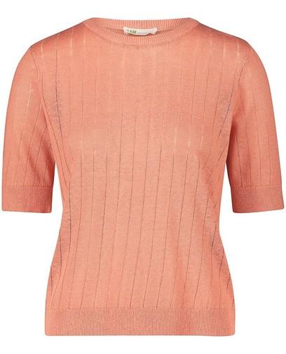 Roze T-shirt van linnen I AM