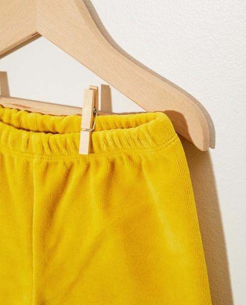 Shorts - Short en éponge jaune Onnolulu