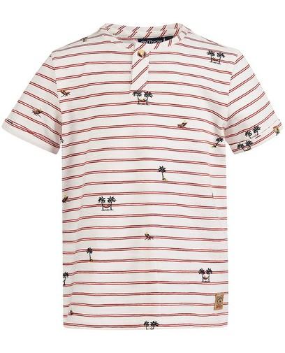 Wit T-shirt met strepen Samson