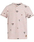 T-shirts - Wit T-shirt met strepen Samson