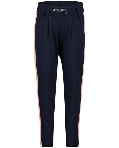 Pantalon bleu rayé s.Oliver - biais décoratif - S. Oliver