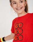 T-shirts - Rood 'GO GO GO'-shirt