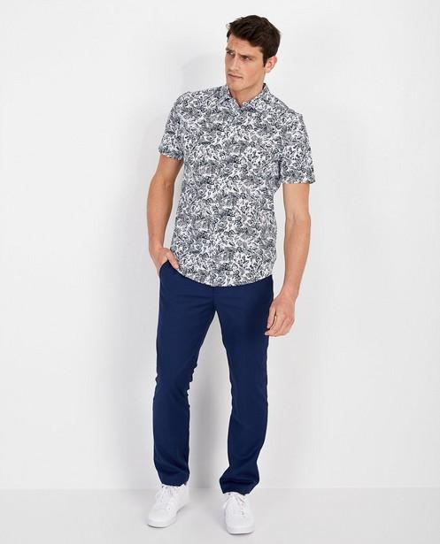 Wit hemd met print - korte mouwen - Quarterback