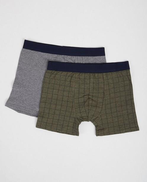 Lot de 2 boxers - vert foncé et gris - JBC