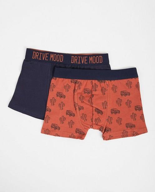 Set van 2 boxershorts - bruin en blauw - JBC