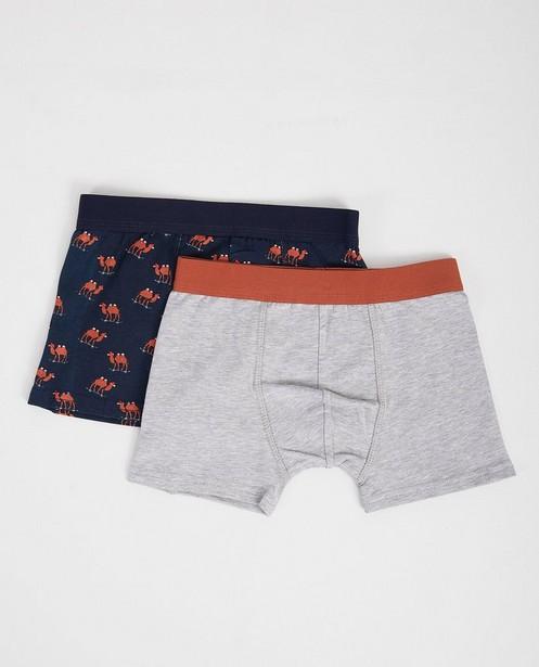 Ensemble de 2 paires de boxer-shorts - bleu et gris - JBC